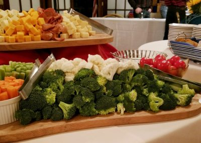 crudite and cheese display