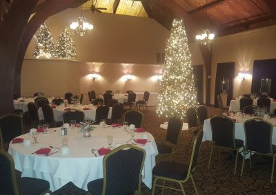 banquet room for Christmas