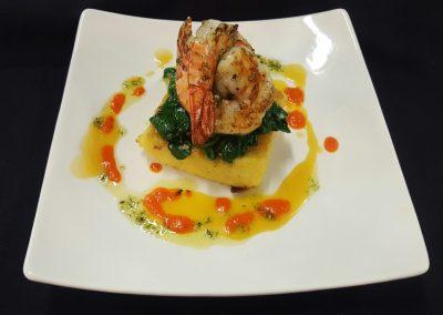 shrimp & polenta dish