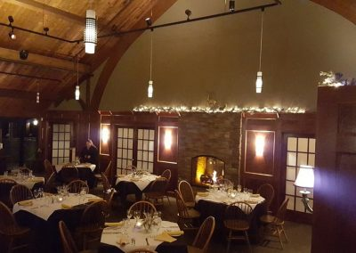 grill room at Christmas time
