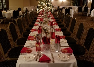 Private holiday dinner table