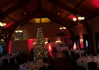holiday set up in banquet room