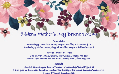 Mother's Day Menu – SOLD OUT!!!!